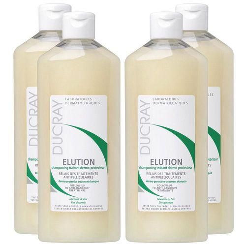 DUCRAY護蕾 控油舒敏洗髮精-基礎型(200ml)限量4入特惠組
