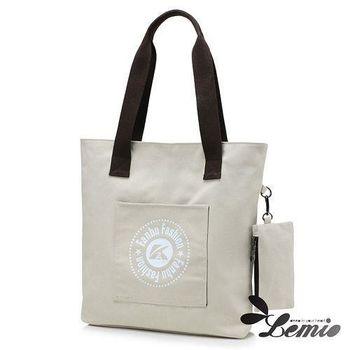 【Lemio】韓版運動風學院購物單肩包