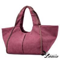 【Lemio】百搭帆布 簡約時尚 托特水餃包