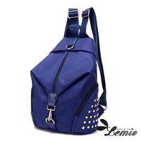 【Lemio】超輕量 防潑水牛津布 鉚釘後背包
