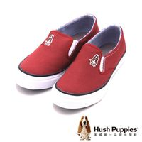 Hush Puppies CASUAL SLIP ON-Core系列 休閒鞋帆布鞋 女鞋-紅(另有鐵灰、藍)
