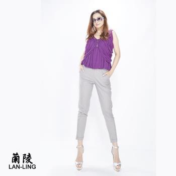 蘭陵棉麻修身顯瘦九分褲組4入 106-03-28