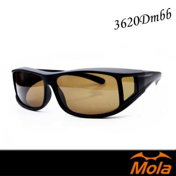 MOLA 摩拉近視可戴包覆式偏光太陽眼鏡 套鏡 墨鏡-3620Dmbb