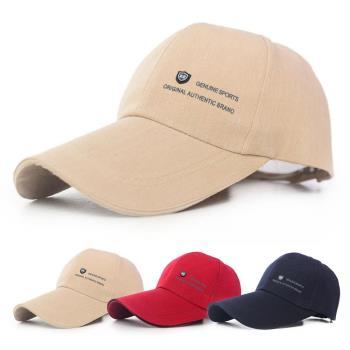 【活力揚邑】加長帽檐防曬透氣22盾標棒球帽時尚百搭戶外運動帽遮陽帽鴨舌帽