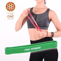 The One瑜珈健身25-70磅環形阻力帶-綠
