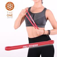 The One瑜珈健身10-15磅環形阻力帶-紅