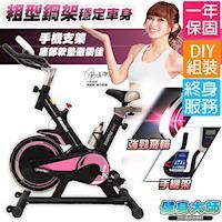 健身大師-名模專用S曲線有氧飛輪車— Cute Pink