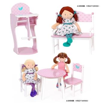Mentari 木質感多功能小淑女娃娃桌椅套組裝飾兼實用性
