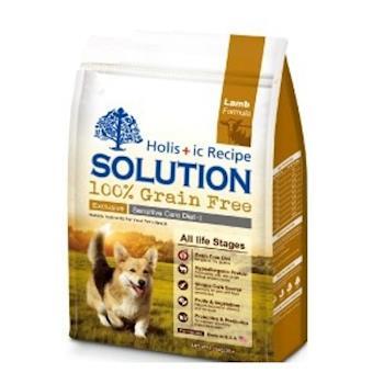 SOLUTION耐吉斯 成幼犬 無穀低敏澳洲羊肉 狗飼料 3磅*1