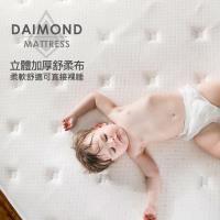 獨立筒床墊【obis】晶鑽系列_MONET三線蜂巢乳膠獨立筒無毒床墊-單人(3.5尺X6.2尺)