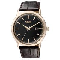 CITIZEN 星辰 Eco-Drive 光動能復刻手錶 黑x咖啡 40mm BM7193-07E