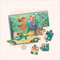 美國Petit Collage - 地板拼圖 - 歡樂美人魚