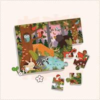美國Petit Collage - 地板拼圖 - 童話森林