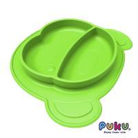 任-PUKU藍色企鵝 矽膠防滑餐盤-萊姆綠