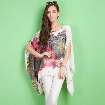 【A3】春氛時尚-飄逸不規則上衣(黑色、白色、玫紅色)3色選