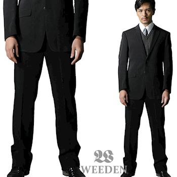 WEEDEN 超值2件組-鍺合金機能纖維平面西裝褲‧驅動黑