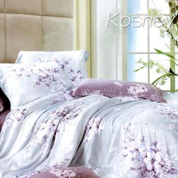 【KOSNEY】愛如潮水  雙人100%天絲全舖棉四件式兩用被冬包組