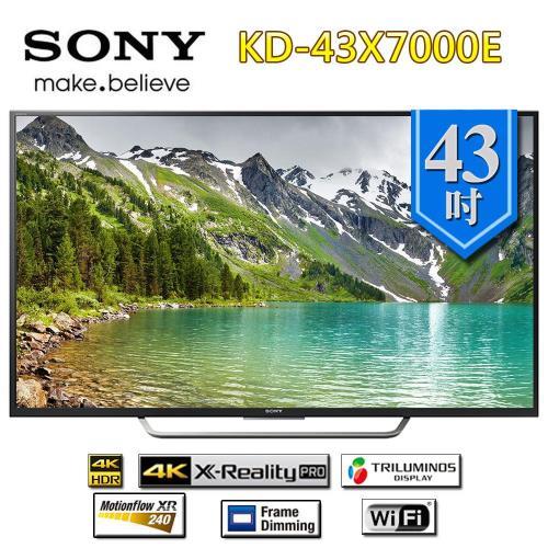 SONY43型 4K 智慧連網電視 KD-43X7000E