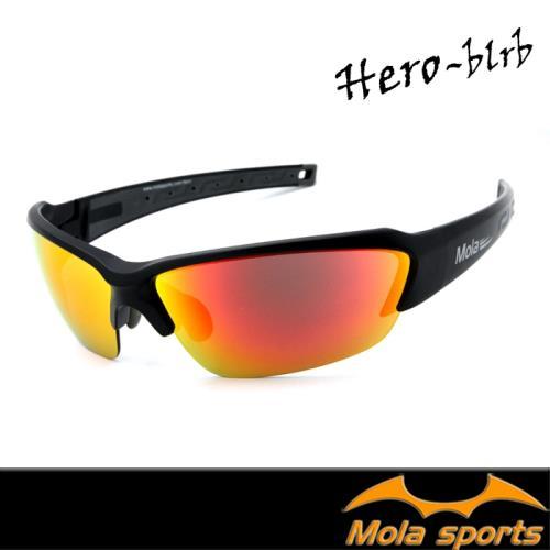 【MOLA SPORTS 摩拉】運動太陽眼鏡 多層膜頂級鏡片 超輕量 自行車 跑步 Hero-blrb