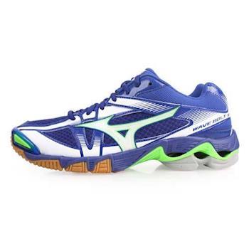 MIZUNO WAVE BOLT 6 男排球鞋-美津濃 螢光綠藍
