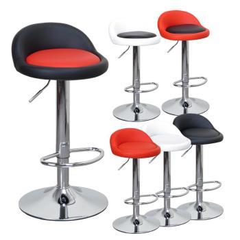 LOGIS邏爵- 高卡咪腳圈吧台椅/高吧檯椅/工作椅/美容椅/休閒椅/美髮椅/旋轉椅6色029A0X
