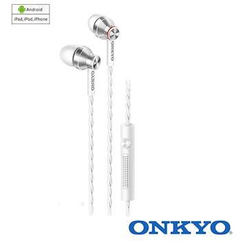 ONKYO E300M (白)智慧型手機用耳塞式耳機