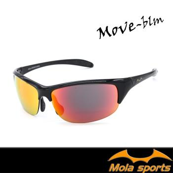 【MOLA SPORTS】 摩拉運動太陽眼鏡多層彩色鍍膜鏡片 超輕量-MOVE_blm
