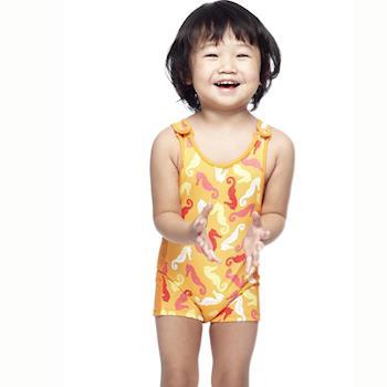 【SAIN SOU】女童連身平口泳裝附泳帽A80409