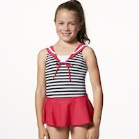 【SAIN SOU】MIT女童連身裙泳裝附泳帽A88501
