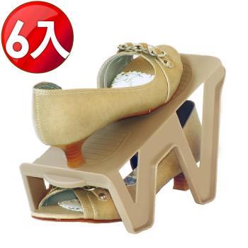 WallyFun 新一代輕鬆抽取 收納鞋架 (6入組)