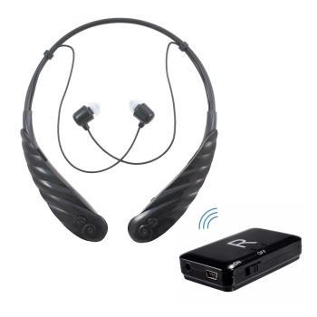 【ミミタカラ】充電頸掛式 藍芽助聽器(未滅菌)+藍芽發射器 超值組(黑)