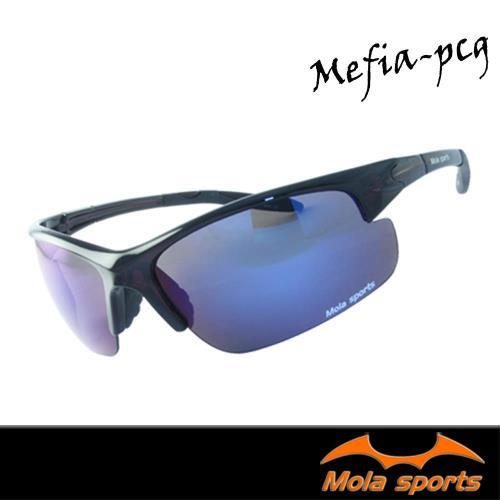 【MOLA SPORTS 摩拉】運動太陽眼鏡  彩色鍍膜 超輕量 戶外 自行車 跑步 Mefia-pcg
