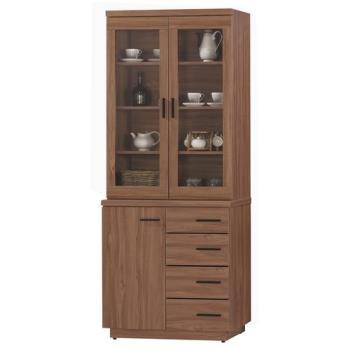 【顛覆設計】堤比2.7尺柚木色餐櫃全組