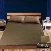 壓花雙人台灣製造透氣排汗床墊咖啡色KOTAS