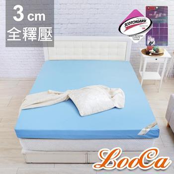 LooCa 雙重認證竹炭3cm記憶床毯組-雙人
