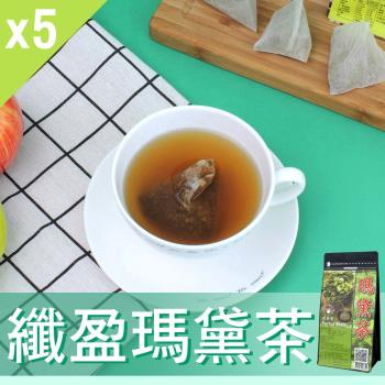 【Mr.Teago】纖盈瑪黛茶/養生茶/養生飲-3角立體茶包-5袋/組(22包/袋)