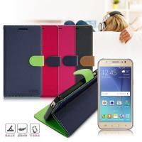 台灣製造 FOCUS Samsung Galaxy J7 糖果繽紛支架側翻皮套