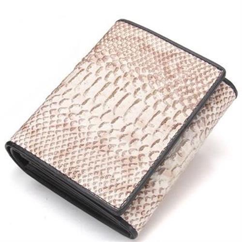 【米蘭精品】短夾真皮皮夾-蛇紋牛皮三折短款女錢包2色73ny50