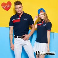 【Dreamming】MIT品味舒適速乾液鈦涼感紗短POLO衫-丈青