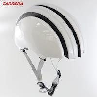 CARRERA義大利 Foldable 收縮式伸縮自行車安全帽-亮光白Gloss White