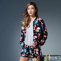 MONS時尚修身歐洲印花褲