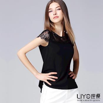 【LIYO理優 EASY ZONE】歐風上衣蕾絲拼接上衣625065