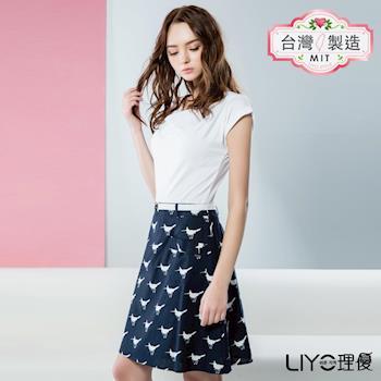 【LIYO理優】LIYO理優歐風假兩件式印花洋裝O636006