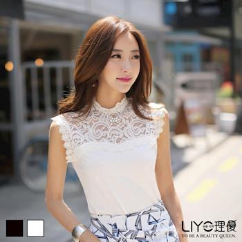 【LIYO理優】上衣蕾絲拼接無袖上衣622028