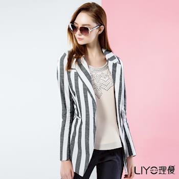 【LIYO理優】外套條紋西裝外套 518001