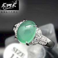 KMK天然寶石~2.5克拉~南非辛巴威天然綠玉髓~女戒
