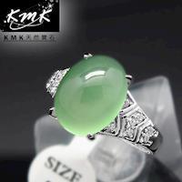 KMK天然寶石~6克拉~南非辛巴威天然綠玉髓~女戒