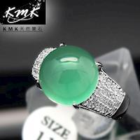 KMK天然寶石~5.3克拉~南非辛巴威天然綠玉髓~女戒