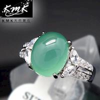 KMK天然寶石~4.1克拉~南非辛巴威天然綠玉髓~女戒