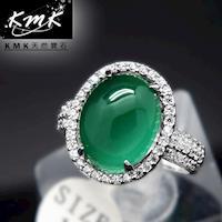 KMK天然寶石~4.5克拉~南非辛巴威天然綠玉髓~女戒